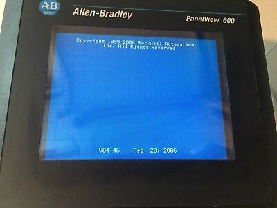 Allen Bradley 2711-T6C16L1 /B Rev-F Panelview 600 Color Touch Display FRN 4.46
