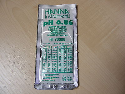 Hanna Ph Solution Calibrage Tampon Evaluation Sachet 6.86 - Hi 70006 HI-70006