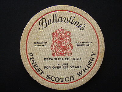 Ballantines Finest Scotch Whisky Estab 1827 In Use For Over 125 Years Coaster