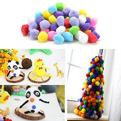 100 PCs DIY mixed color mini Soft moelleux POM pompons pompons ball 20/30/40mm