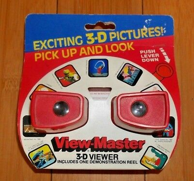 * MINT / UNUSED * GAF VIEWMASTER VIEWER RED MODEL J 1980's RARE RETRO   A412