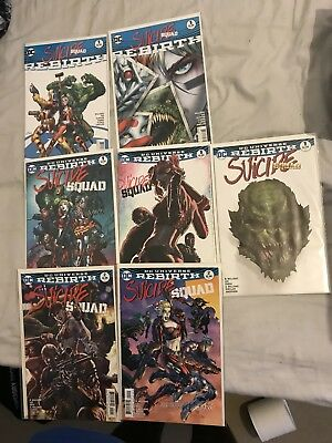 Suicide Squad Rebirth one shots, #1 & #2 Plus Variants DC Rebirth Harley Quinn