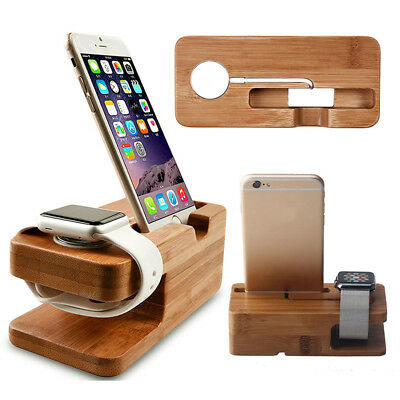 Phone Stand Charger Stations Wooden for Apply Watch iPhone 5s 6 Rosewood Bamboos