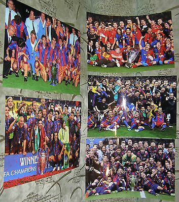 5 X Barcelona Photos Champions League Final 1992 2006 2009 2011 2015 A4 Pictures