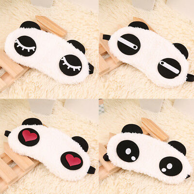 Cute Panda Sleeping Face Eye Mask Blindfold Shade Traveling Sleep Eye Aid   LH