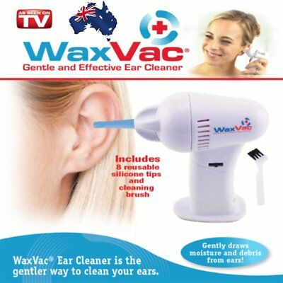 Electric Ear Wax Dirt Remover Earwax Vacuum Cleaner Painless Cordless Safe LH