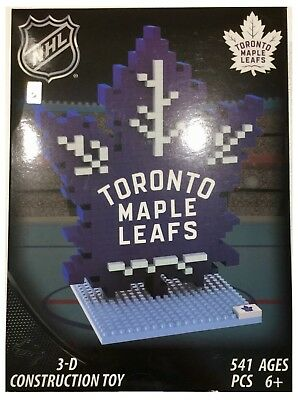 Toronto Maple Leafs NHL Ice Hockey 3D Logo BRXLZ Brick Construction Set Puzzle