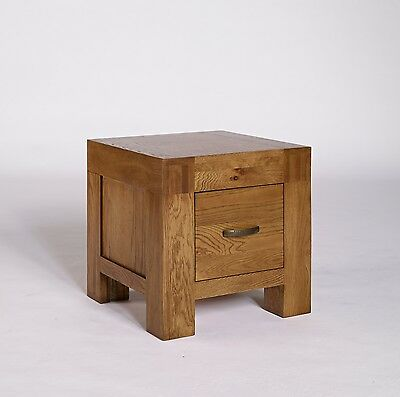 Oak Small Bedside Cabinet Unit 1 Drawer Bedroom Contemporary Furniture Rustic