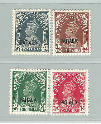 India:gvi Patiala State Mint Stamps . Cv 800$