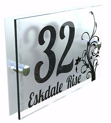 Decorative House Signs Plaques Door Numbers 1 - 999 Personalised Name DEC-1B-S