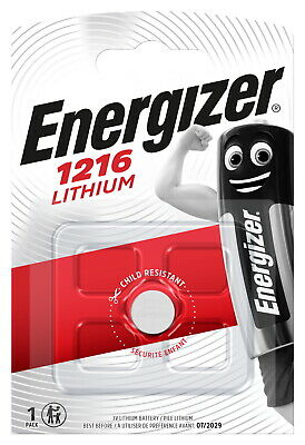 1 x Energizer Cr 1216 3V Lithium Battery Button Cell DL1216 - 25mAh Capacity