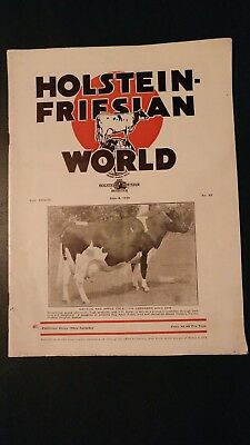 Holstein World 1940 Mount Victoria Farms & Belle Crest Stories + Dunloggin