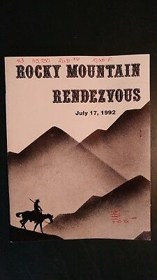 Rocky Mountain Rendezvous Holstein Sale Catalog 1992 Estes Park Colorado