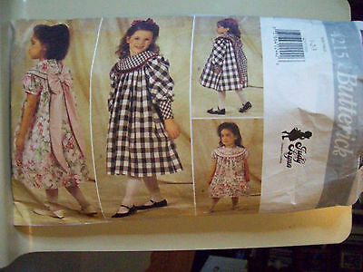 Butterick 4215 Toddlers Children Dress Pattern uncut Size 1-3 USED