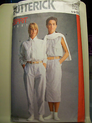 InButterick 6119 Misses Shirt, Skirt and Pants Pattern Sizes 6-8-10