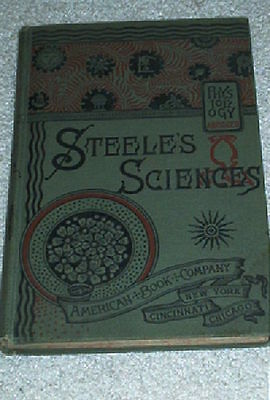 Steeles Science Hygienic Physiology Alcohol Narcotics 1888 Antique Medical Book