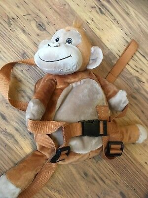 Bobo buddies 2 In 1 Monkey Backpack With Harness/reins