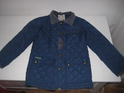 Boys Joules Blue Lightweight Coat Age 7 Years
