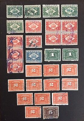 Canadian Stamp Selection of Customs