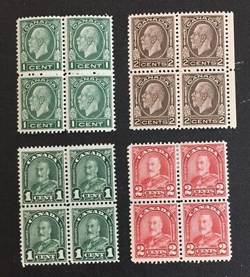 Canadian Stamp Selection of Blocks MNH/MH