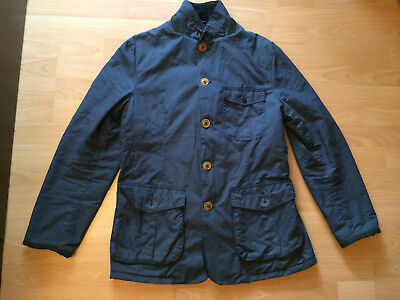 BARBOUR 'Kempt' navy blue Waxed Cotton Jacket