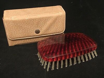 Vintage Men's Travel Hair Brush Set with case 50's-60's