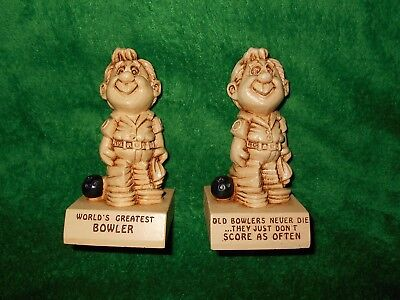 Bowling figurines by Paula 1970 lot of 2