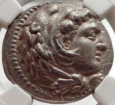 ALEXANDER III the GREAT Ancient 325BC Tetradrachm Greek Coin Zeus NGC AU i66665