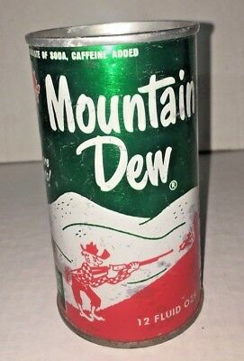 Vintage Mountain Dew Pull Tab Flat Top Can It'll Tickle Your Innards! Hillbilly
