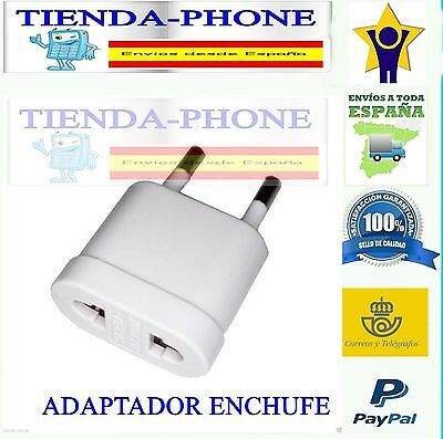 Adaptador Enchufe Americano, Ingles o Chino a Enchufe Español Europeo CE