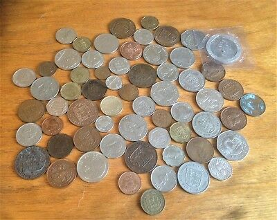 Job Lot of 60+Channel Islands+ Isle of Man coins