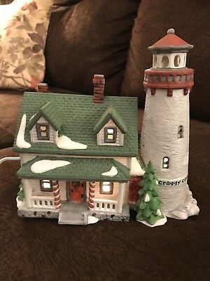 Dept 56 New England Village Craggy Cove Lighthouse Non-Lit Ornament #98739 New