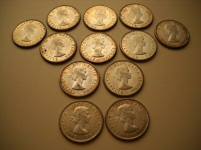 (12) Canada 50C lot - 1960,61,62&63 - Ungraded, Uncertified, Uncirculated Cond