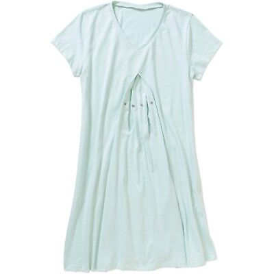 Introspect Maternity Short Sleeve Nursing Sleep Chemise Size M Nightgown NWT