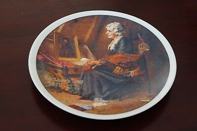 """Norman Rockwell Mothers Day Plate """"REFLECTIONS"""" 1979 Official Mothers Day Series"""