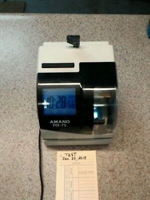 AMANO PIX-75  A187 Time Clock  In good used condition, Time cards included