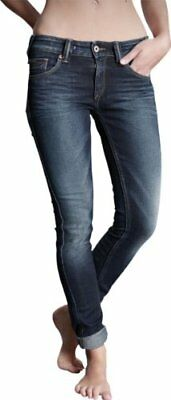 905 38 It Hilfiger Denim Sophie Skinny Lamst Jeans Donna La Mid Stretch W24/l32