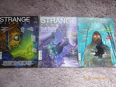 3 Copies Strange Magazine.