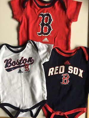 Adidas Boston Red Sox One Piece Infant bodysuit Size 12 Months