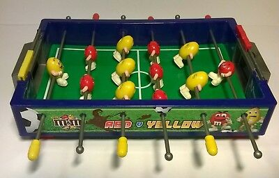 M&m's M&m Peanut Red Vs Yellow Sweet Candy Table Soccer Football Game Dispenser