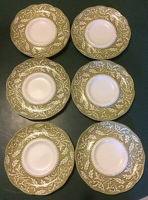 """6- 6"""" J And G Meakin Sterling Renaissance Saucers For Coffee Cups. Saucers Only"""