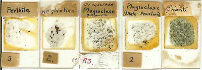 Collection of 5 Petrographic Microscope Slides