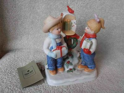 HTF Denim Days Home Interiors #57064 Sharing the JOY of Christmas Figurine NIB
