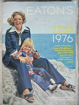 Old Spring Summer 1976 Last Eaton's Catalog Department Store