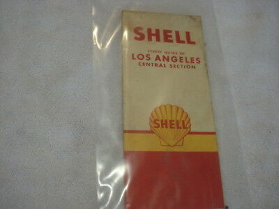 1961 Shell Gas Road Map for Los Angeles Central Section