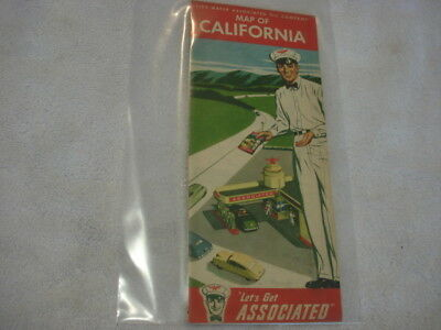 1940s Flying A - Tide Water -Associated Road Map of California