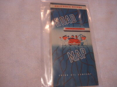 Union Oil (76) Road Map of California & Nevada from the 1940s