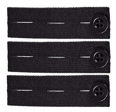 Elastic Pants Waist Extender 3-Pack - Strong Adjustable Pant Button Extenders