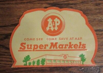 A&P Supermarket sewing needle kit grocery store ad Atlantic and Pacific Tea Co.