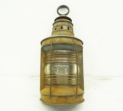 Vintage Wilcox Crittenden CONVERTED SHIP LANTERN Marine Lamp Nautical Wall Light